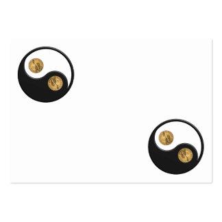 Dólar de Ying-Yang Tarjetas De Visita Grandes