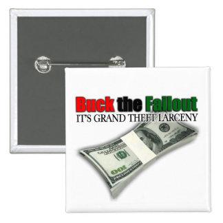 Dólar del desalojo urgente de los E.E.U.U. el botó Pin