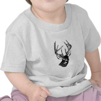 Dólar del trofeo de los ciervos de la cola blanca camiseta