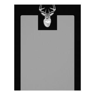 Dólar en ciervos negros de la cola blanca membrete a diseño