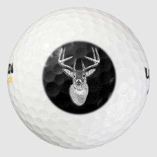 Dólar en ciervos negros de la cola blanca pack de pelotas de golf