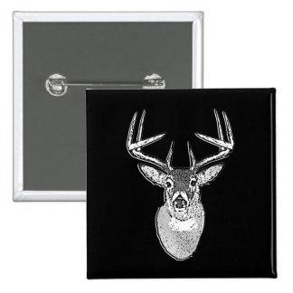 Dólar en ciervos negros intrépidos de la cola pin cuadrado