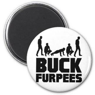 Dólar Furpees -- Aptitud de Burpees Imán Redondo 5 Cm