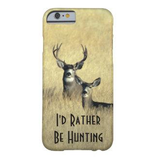 dólar masculino del ciervo mula de la cola blanca funda de iPhone 6 barely there