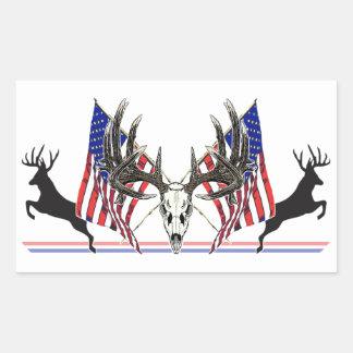 Dólar patriótico del Whitetail Pegatina Rectangular