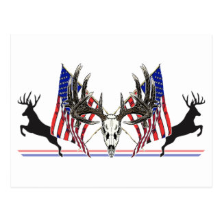Dólar patriótico del Whitetail Tarjeta Postal