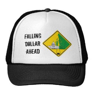 Dólar que cae a continuación gorras