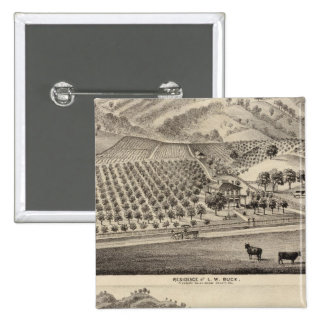 Dólar res, granja del Bunker Hill Pin Cuadrado