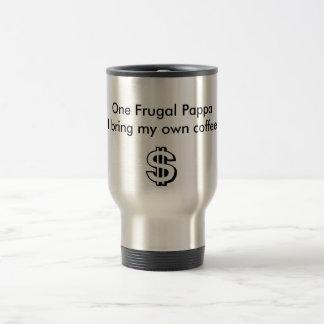 dólar, un Pappa frugal traigo mi propio café Tazas