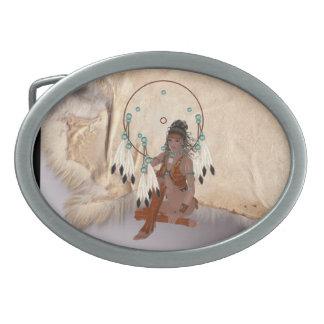 Dólar virginal indio de la correa del diseño de la hebillas cinturon ovales
