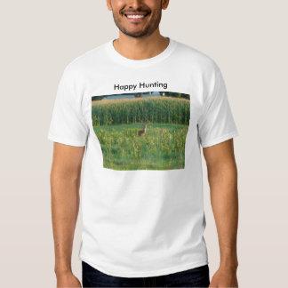 Dólar y campo de maíz, caza feliz camisas