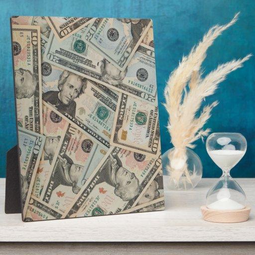 Dólares de fondo placas para mostrar