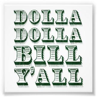 Dólares del dinero del efectivo de Dolla Dolla Bil Fotografias