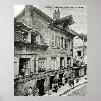 Dole, Maison Natale de Pasteur vintage image Posters