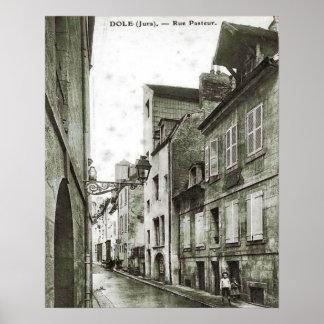Dole, Rue Pasteur, vintage image Print
