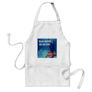 """""""Doleful Creatures, Owls and Satyrs"""" Adult Apron"""