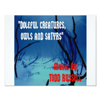 """Doleful Creatures, Owls and Satyrs"" Card"