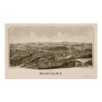 Dolgeville, NY Panoramic Map - 1890 Poster