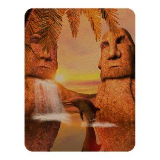 Dolhin in the sunset card