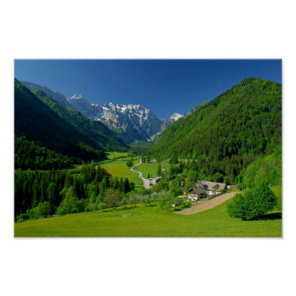 Dolina Eslovenia de Logarska Poster