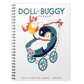Doll and Buggy Parade Spiral Notebook