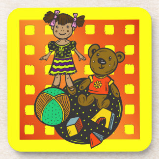Doll Bear and Ball Toys Coaster