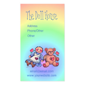 DOLL & BEAR by SHARON SHARPE Double-Sided Standard Business Cards (Pack Of 100)