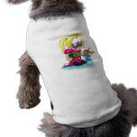 doll beautician dog tee shirt