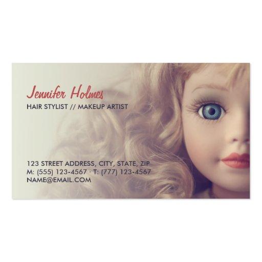 Doll Beauty Salon business card