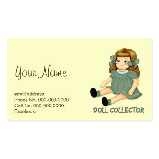Doll Collector Double-Sided Standard Business Cards (Pack Of 100)