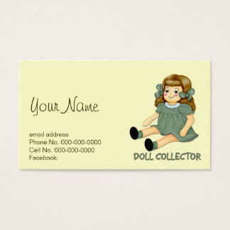 Doll Collector Business Card