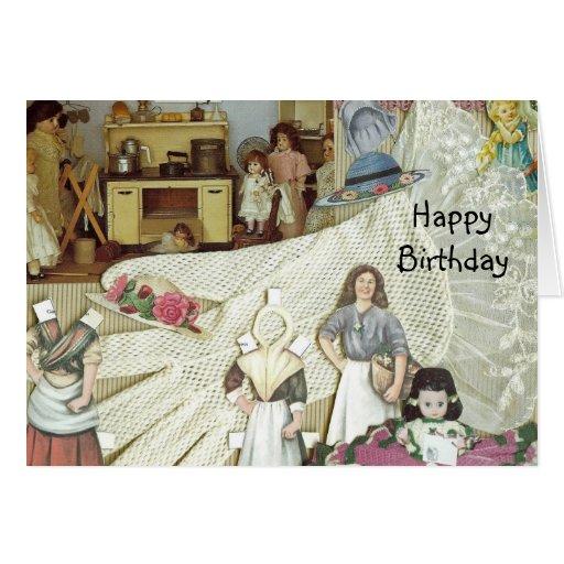 Doll Collectors Birthday Card