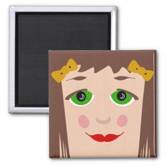 Doll Face Big Eyes Cartoon Girl Magnet