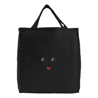 Doll Face Embroidered Bag