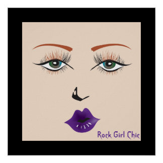 """Doll Face """"Rock Girl Chic"""" Poster"""