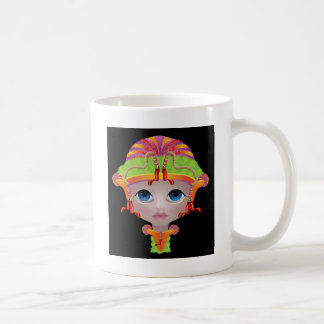 Doll face with fond colours coffee mug