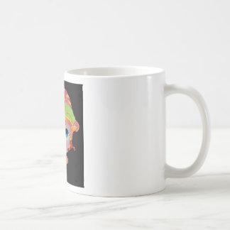 Doll face with fond colours mug