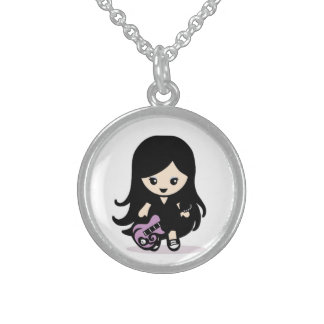 Doll grazes sterling silver necklace