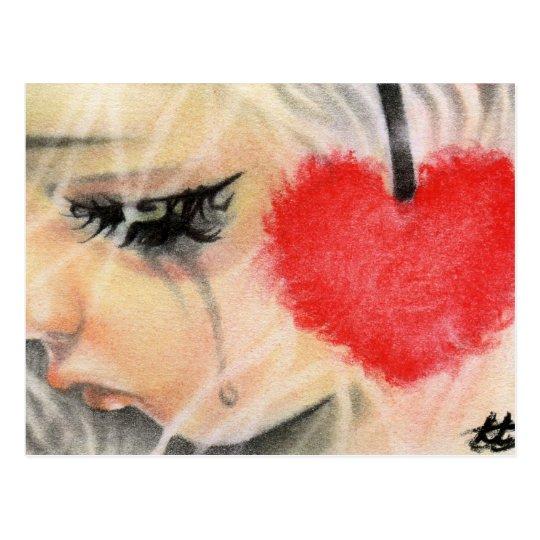 Doll heart headphone Postcard
