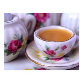 Doll House Tea Time Postcard