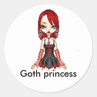 doll -icon, Goth princess Classic Round Sticker