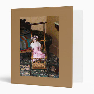 Doll in Carriage 3 Ring Binders