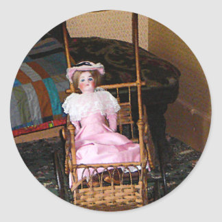 Doll in Carriage Sticker
