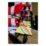 Doll in Colorful Outfil Greeting Cards