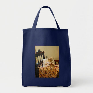 Doll in Crib Tote Bag