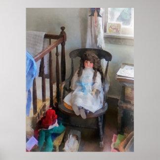 Doll in Nursery Print