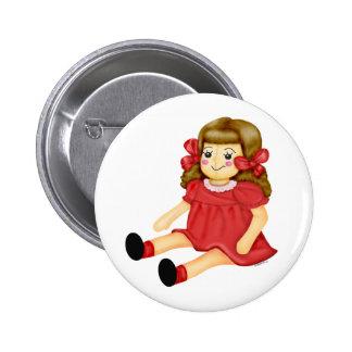 Doll in Red 2 Inch Round Button