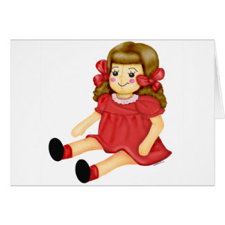 Doll in Red Greeting Card