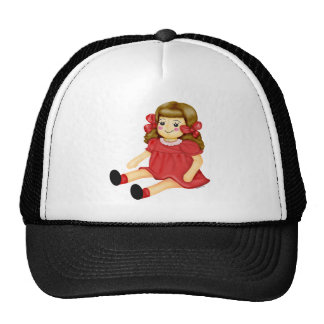 Doll in Red Mesh Hat