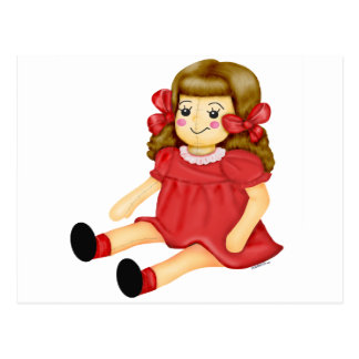 Doll in Red Postcard